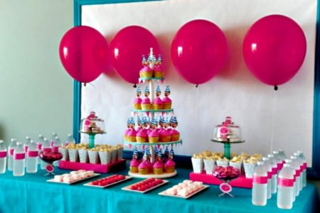 girl birthday party decorations at home idea gallery