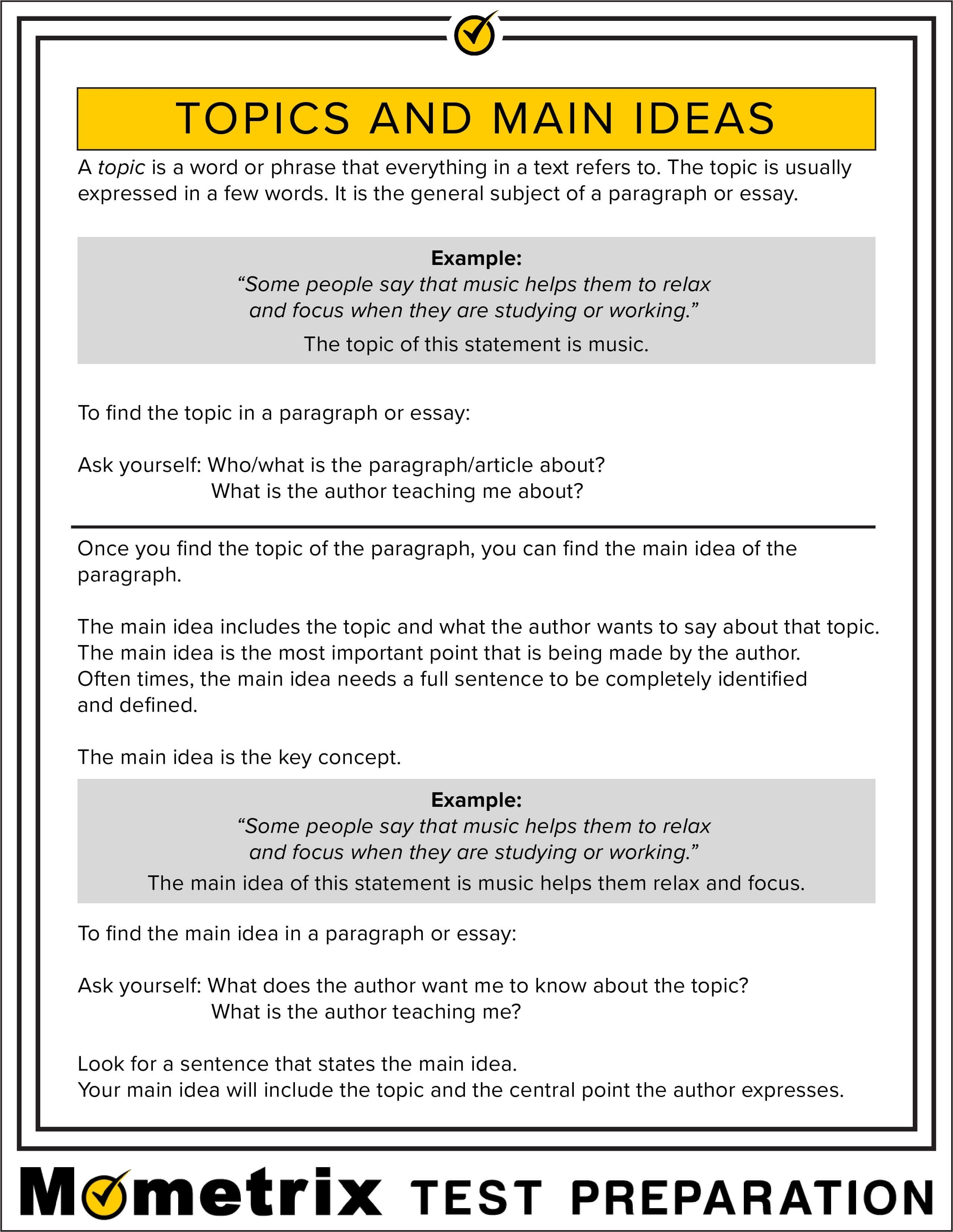 10 Awesome The Sentence That States The Main Idea Of The