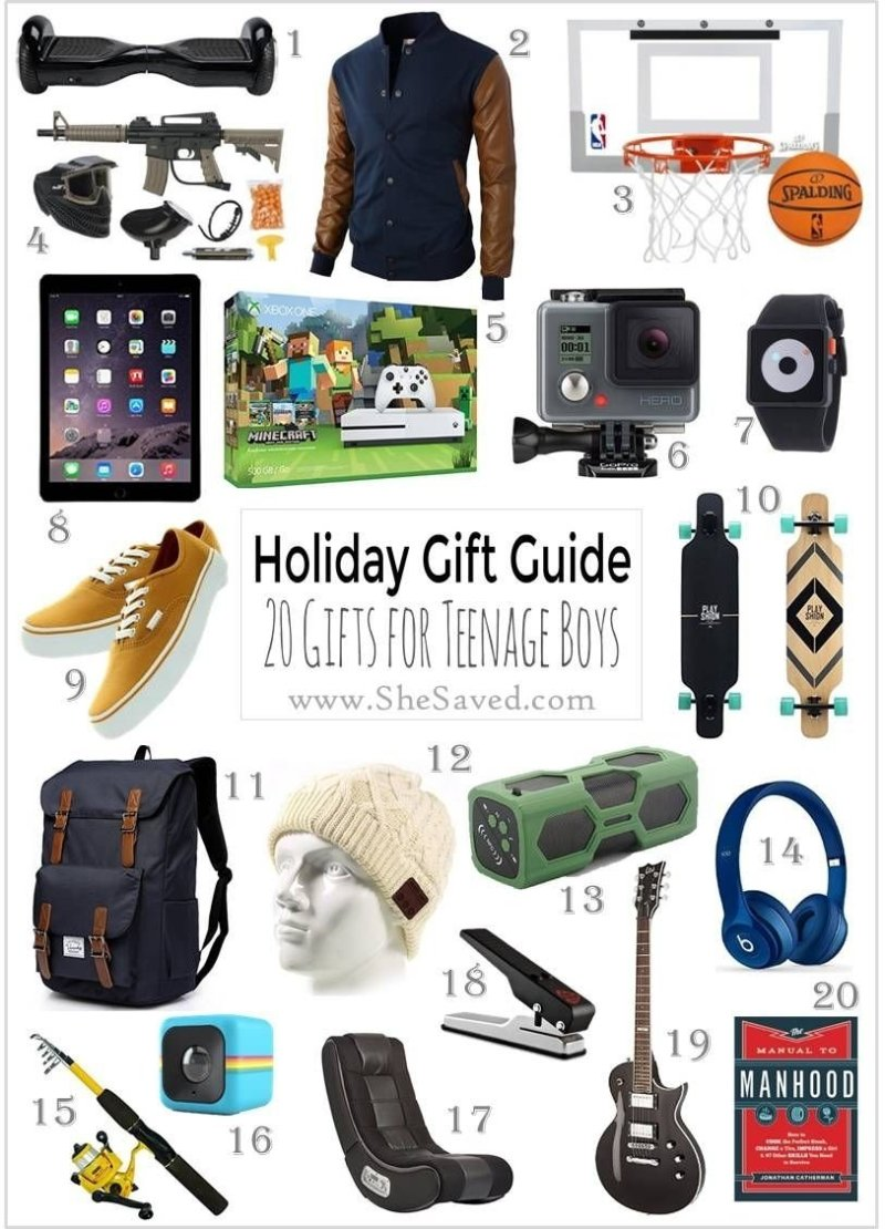 96 Birthday Gift Ideas For Teenage Guys 10 Unique Christmas
