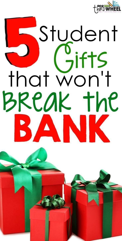 Student christmas gift ideas from teachers