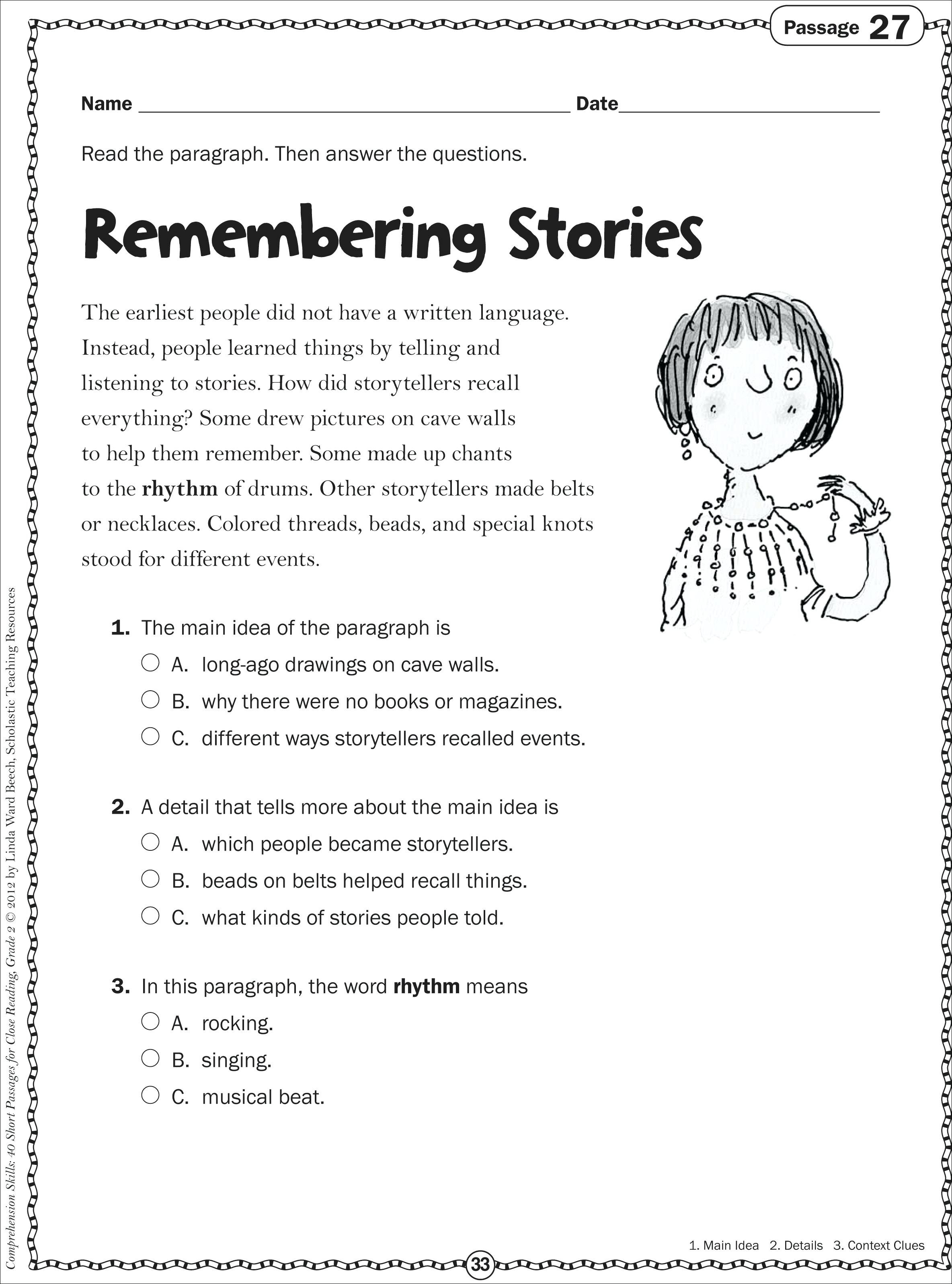 Worksheets 5th Grade Main Idea Worksheets Cheatslist
