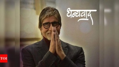"""Amitabh Bachchan posts, """"Dhanyawad... is all that I can muster .. for now"""" 