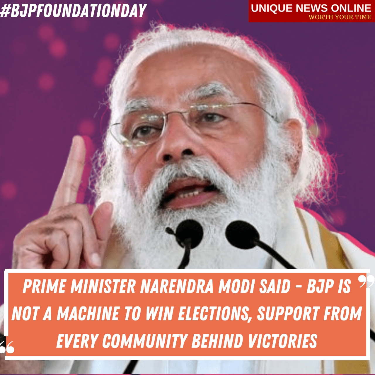 41st BJP Foundation Day: Prime Minister Narendra Modi said - BJP is not a machine to win elections, support from every community behind victories