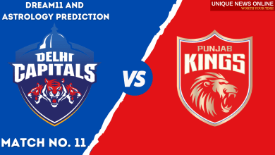 DC vs PBKS Match Dream11 and Astrology Prediction, Head to Head, Top Picks, Dream11 Tips, Captain & Vice-Captain, and who will win Delhi Capitals or Punjab Kings?