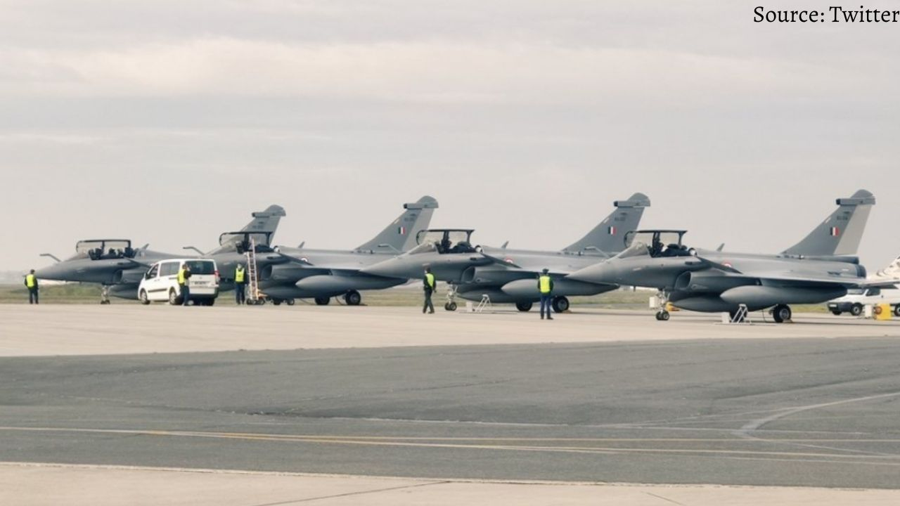 The fifth batch of Rafale fighter jet from France airbase reached India