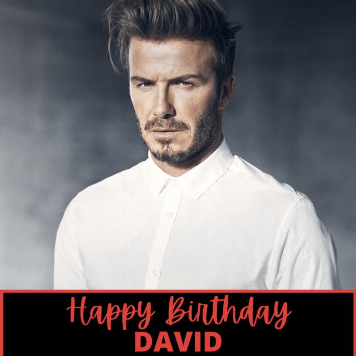 Happy Birthday David beckham Card