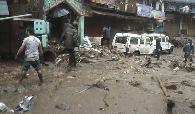 Chamoli once again witnessed devastating, simultaneously cloudburst in three places