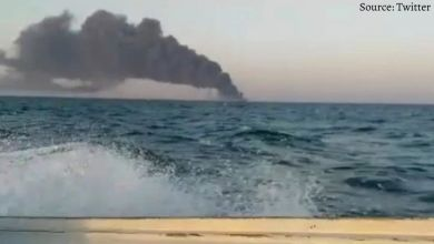 The largest ship of the Iranian Navy caught fire, submerged in the Gulf of Oman