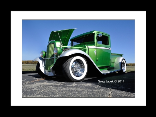 Green Truck Drivers Side Framed