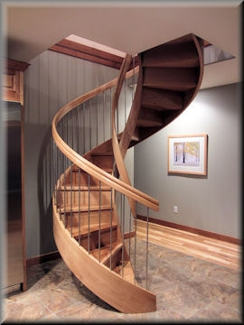 Custom Curved Stairs By Unique Spiral Stairs | Half Round Stairs Design | Half Circle Staircase | Frame | Plan | Metal | Indian Style