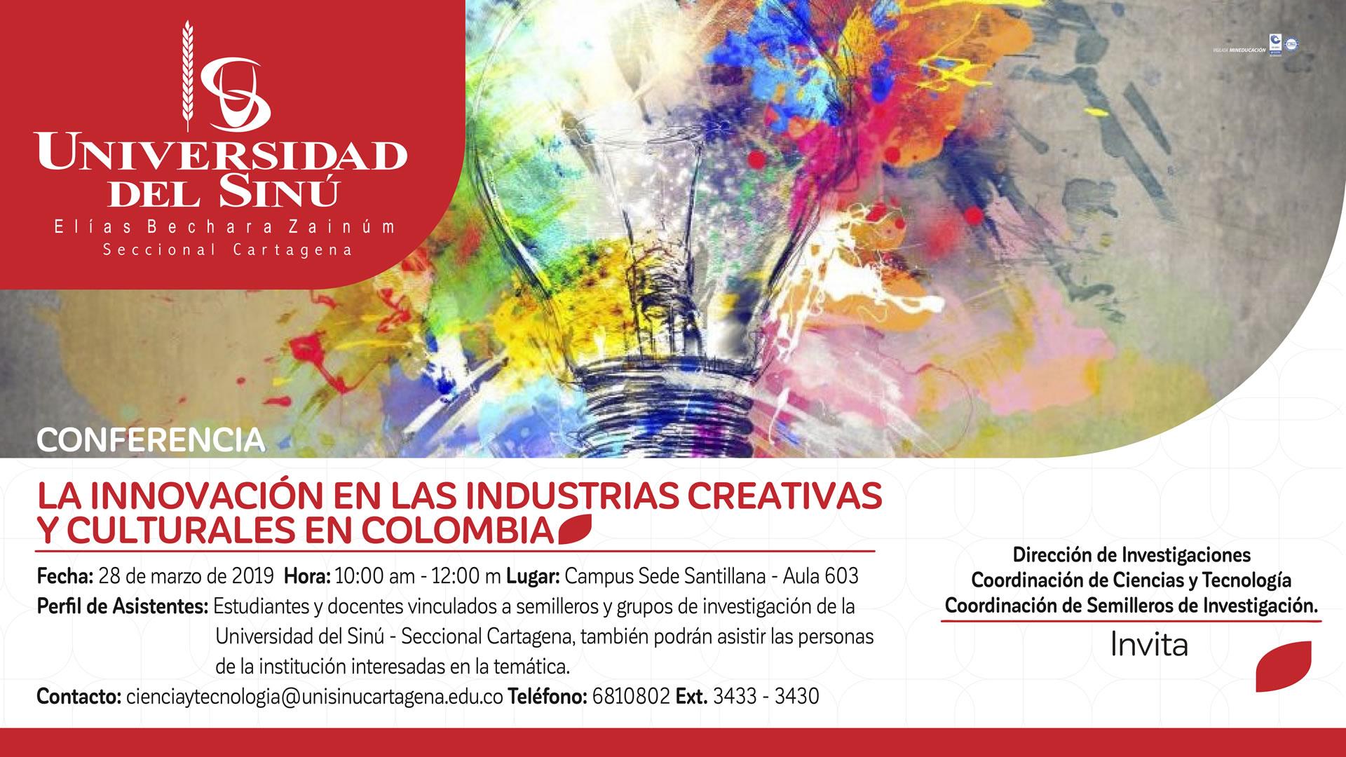 conferencia sobre la innovación en las industrias creativas y culturales en colombia