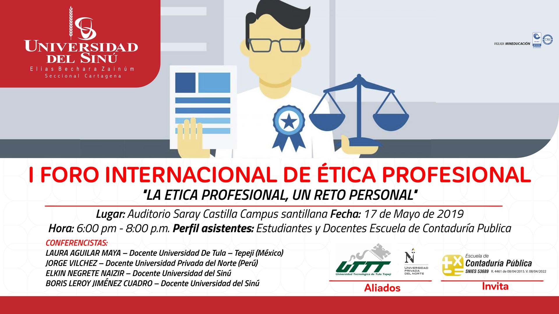 I Foro Internacional de Ética Profesional