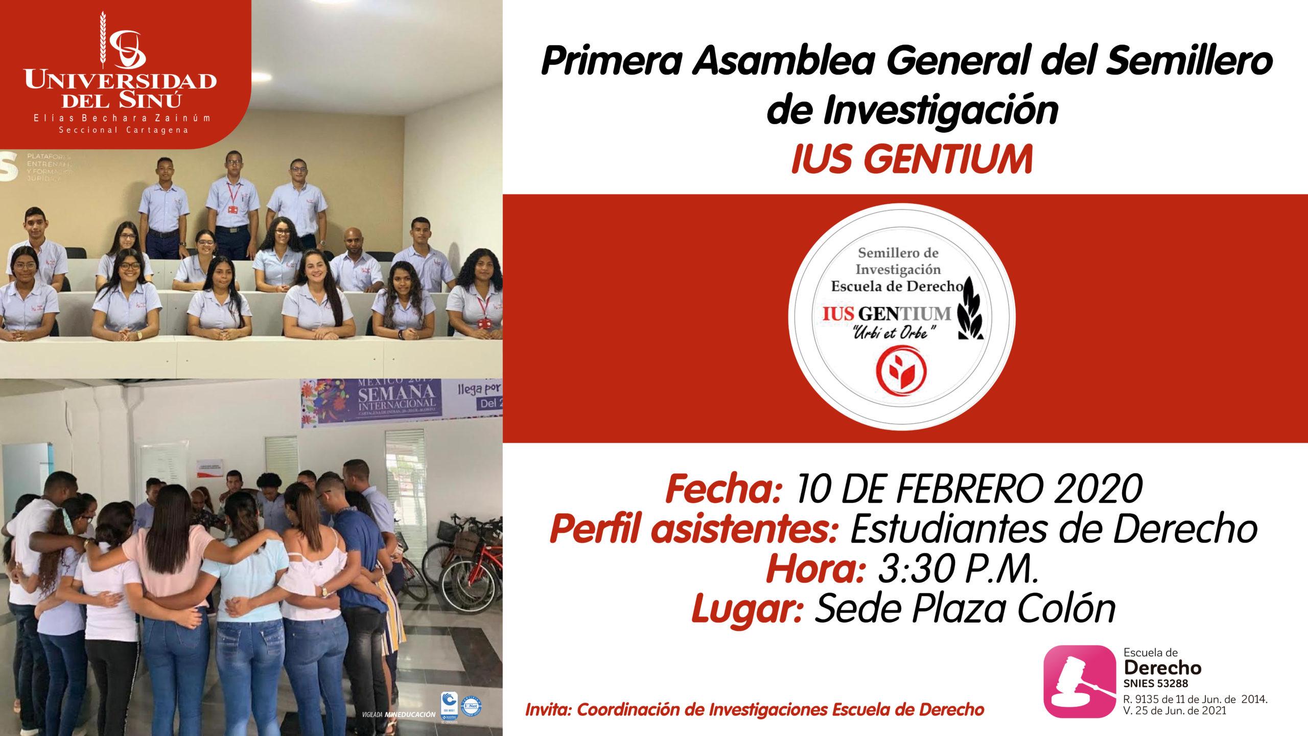 Primera Asamblea General del Semillero de Investigación IUS GENTIUM_Mesa de trabajo 1