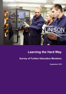 Learning the hard way - FE staff survey - Sep 2015