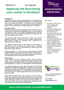 Briefing 072 Bargaining: Buurtzorg Care Model - Jan 2016