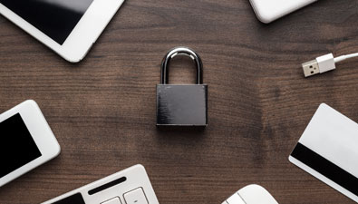lock with cords for secure information