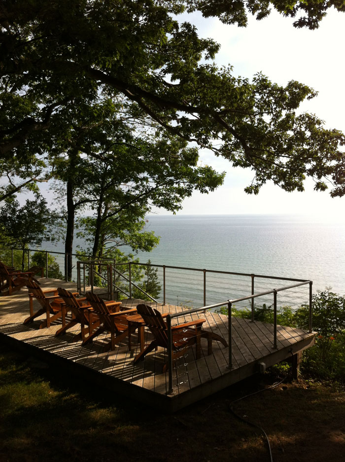 wisconsin lake home deck