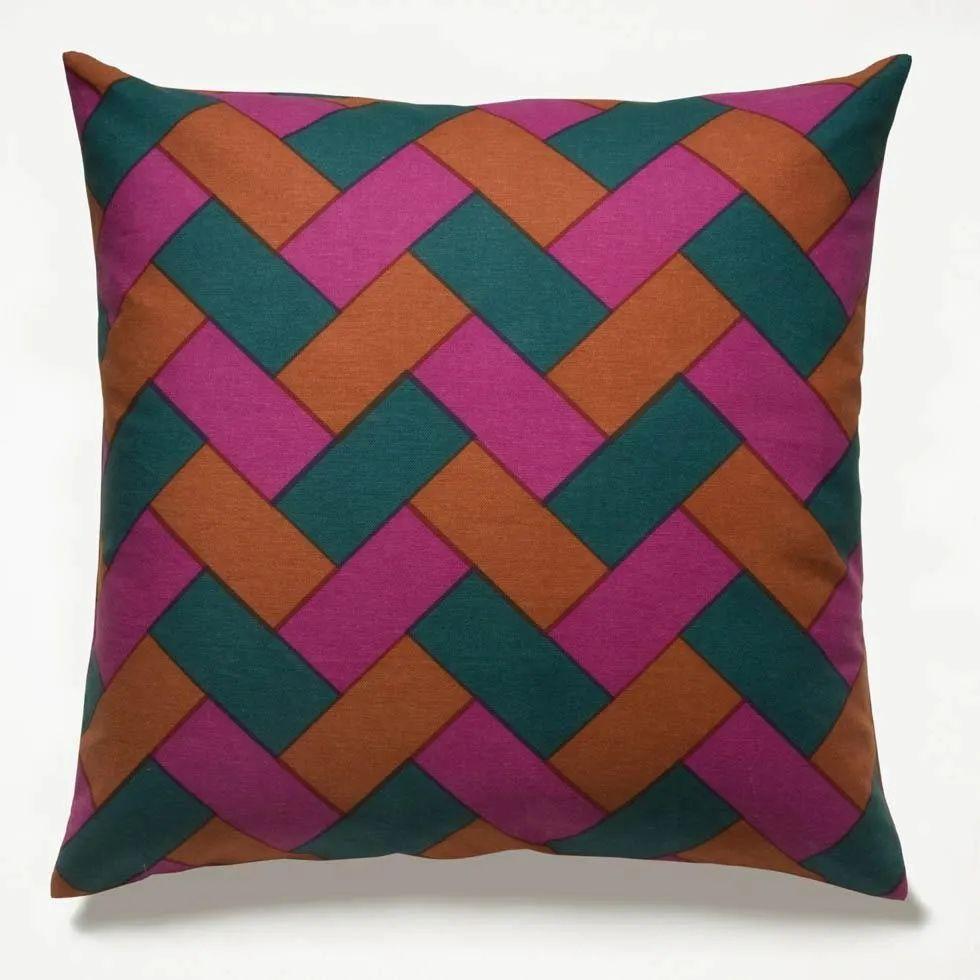 rope fuchsia throw pillow cover 22 x 22