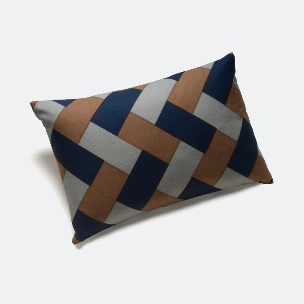 rope navy throw pillow cover 12 x 18