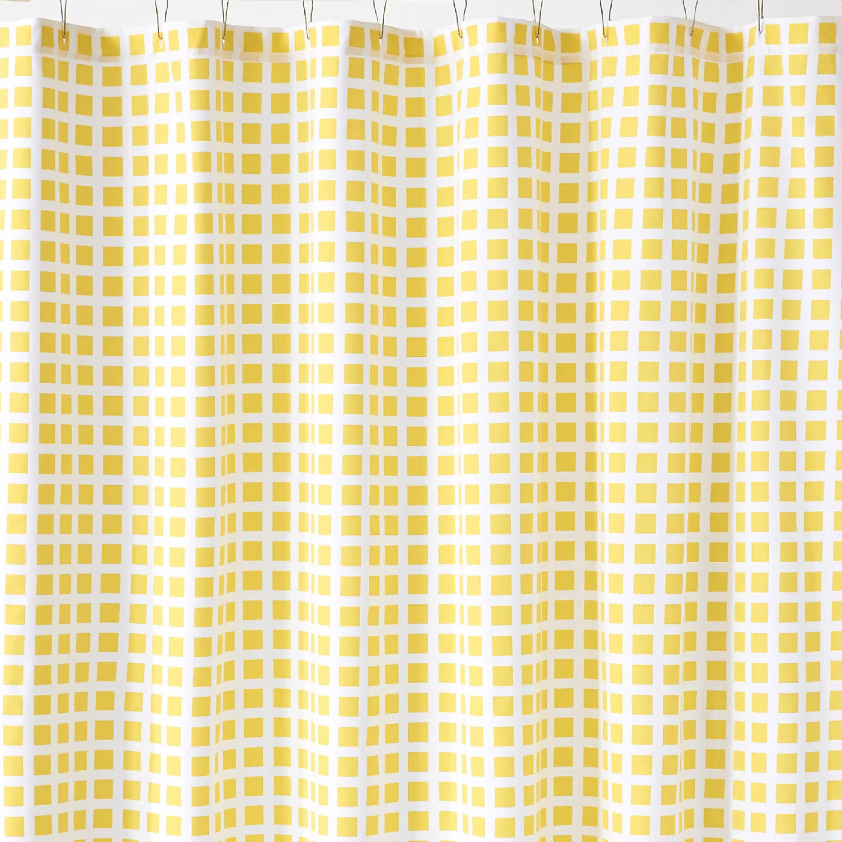 tiles lemon shower curtain