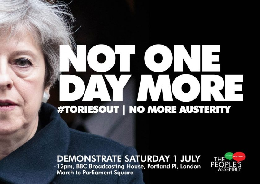 Image of Not One Day More leaflet.