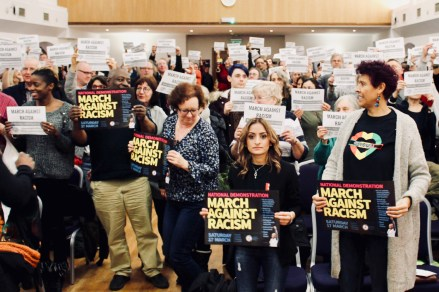 Group photograph of trade unionists at the Stand Up To Racism - Trade Union Conference. (10.02.18)