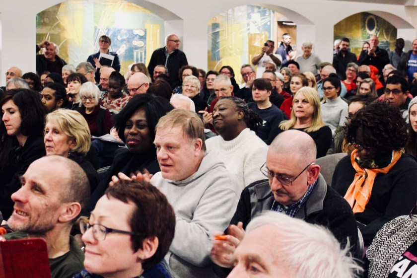 Photograph of trade unionists applauding speakers at the Stand Up To Racism - Trade Union Conference. (10.02.18)