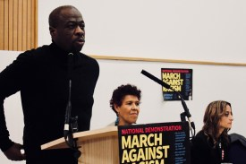Photograph of Weyman Bennett (Joint National Convenor, Stand Up to Racism) addressing trade unionists at the Stand Up To Racism - Trade Union Conference. (10.02.18)