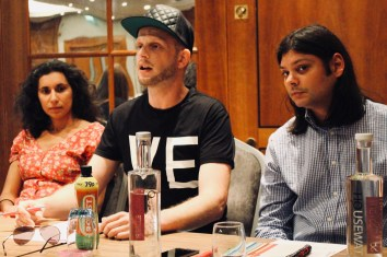 Photograph of Laura Basu (Writer & Independent Scholar), Steve Topple (Journalist, The Canary) and Ben Chacko (Editor, Morning Star) at The People's Assembly Against Austerity CHANGE IS COMING conference.