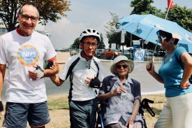 Photograph of Save Our Southend NHS campaigners at the 'Happy Birthday Southend NHS!' event on Thursday 5th July, 2018.