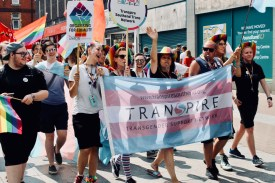 Photograph of TRANSPIRE on Southend Pride Parade.