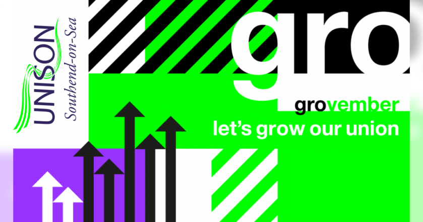 "Announcement graphic reading: ""Grovember – Let's grow our union."""