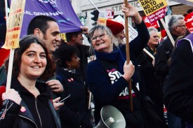 Photograph of Southend UNISON members and friends at the National Unity Demonstration on Saturday 17th November 2018.