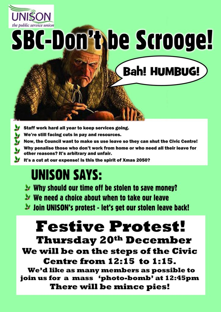 Click here to download Festive Protest leaflet .pdf