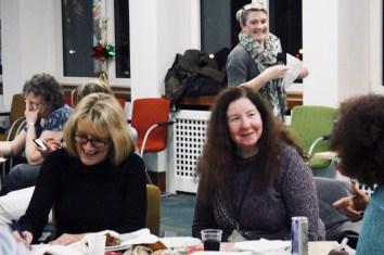 Photograph of UNISON Southend-on-Sea members enjoying the Xmas Social, 2018.
