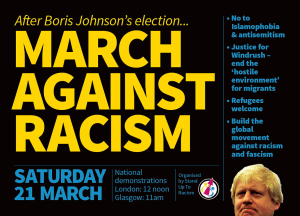 Stand Up To racism demo flyer