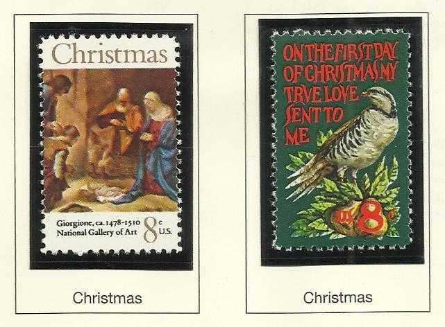 1971 Christmas Giorgione Art Amp First Day Of Christmas US