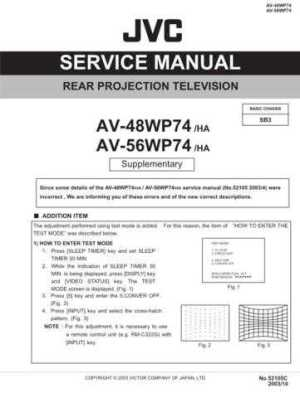 JVC AV36F702 Service Manual by download Mauritron #279969