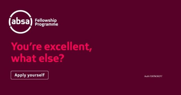 Absa Fellowship Programme 2021 Absa Fellowship Programme 2021 for Undergraduates Studies in South Africa (Fully Funded)