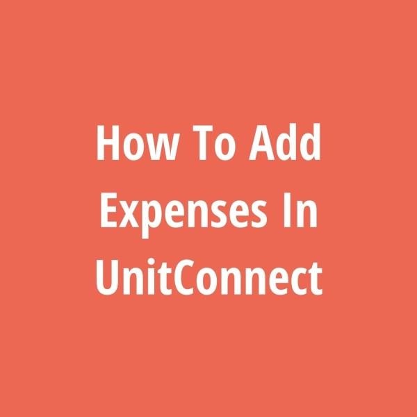 How To Add Expenses In UnitConnect