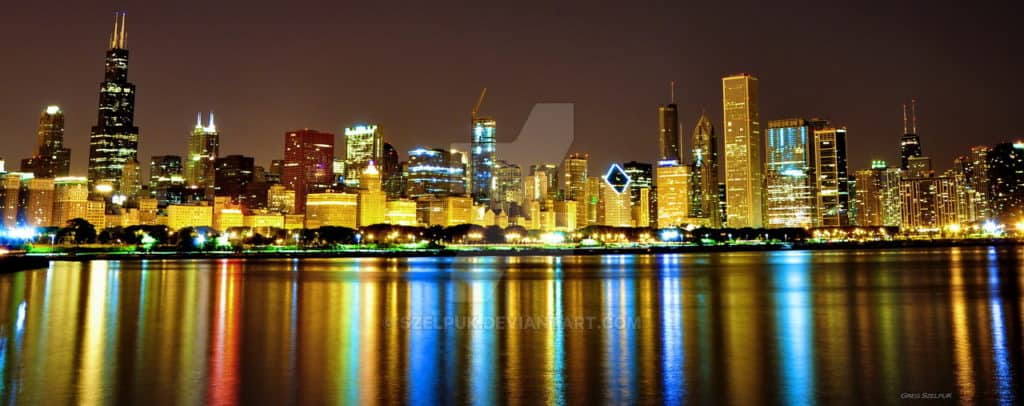 chicago_downtown_at_night_by_szelpuk-d249i7k