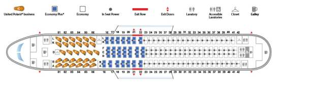 Boeing 767 300 763 Version 2 United Airlines Seat Map