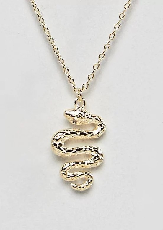 taylor swift reputation tour outfit ideas gold snake necklace asos