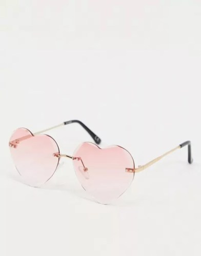asos heart shaped sunglasses