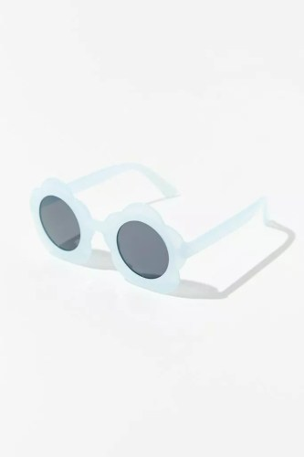 urban outfitters blue round sunglasses