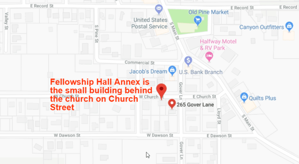 Map Downtown Halfway - Presbyterian Fellowship Hall Annex