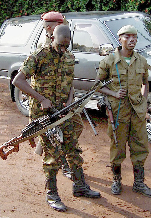 Soldado congoleño.