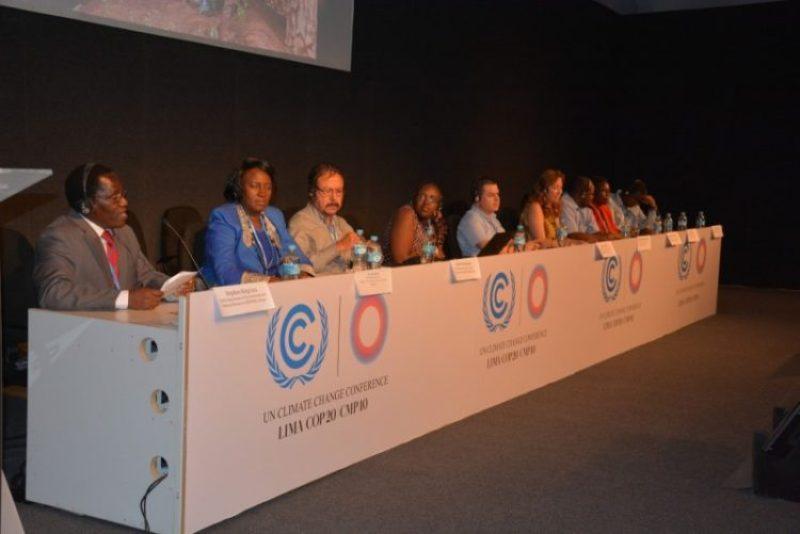 Responsables del Ministerio de Medio Ambiente de Kenya, durante un acto paralelo en la COP 20 en Lima, 2014 [Foto: J.L.Urrea/CCAFS]