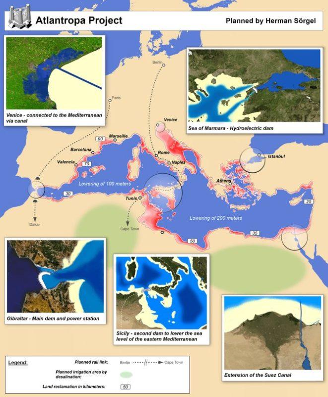 Mapa del proyecto Atlantropa [Wikipedia]