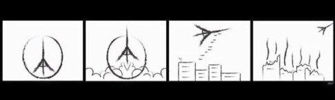 Viñeta bombardeos [Fuente: anónimo vía Twitter]